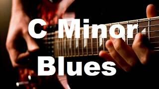 amazing blues guitar backing track c minor