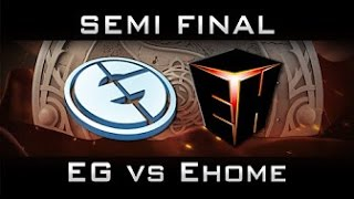 EHOME vs EG, TI6, Игра 1, Лучшая игра, EPIC ЭПИК Полуфинал, The international 6 Русские комментаторы