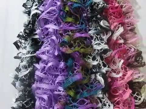Knitted Ruffle Scarves 8 Youtube