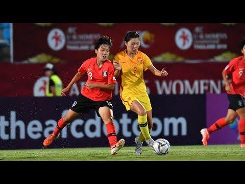 #AFCU16W - M04: Korea Republic 0 - 2 China Republic (Highlights)