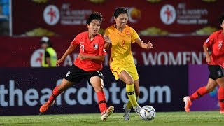#AFCU16W - M04 - Korea Republic 0 - 2 China Republic (Highlights)