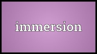 Immersion Meaning