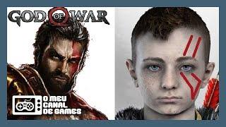 ATREUS O GUERREIRO MARCADO, REI EM GOD OF WAR, KRATOS GORDO E MUITO MAIS! [God of War]