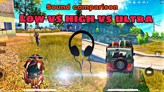 Download COMPLETE ULTRA HD SOUND COMPARISON IN PUBG MOBILE | LOW VS HIGH VS ULTRA SFX| WHICH IS THE BEST ??