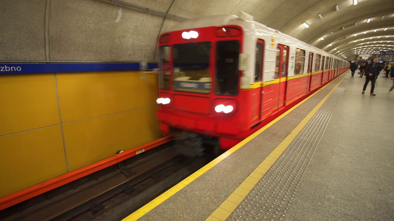 Download Poland, Warsaw, metro ride from Wierzbno to Wilanowska, 2X elevator, 2X escalator