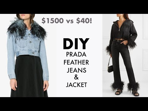 DIY: How To Make PRADA Feather Jeans for $40!! (Designer HACK) -By Orly Shani - YouTube