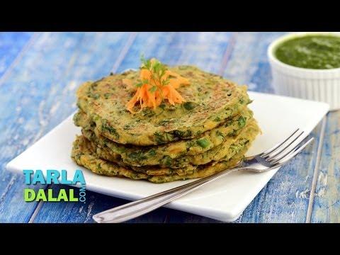 Vegetable Oats Pancake ( Fibre-rich Breakfast) by Tarla Dalal