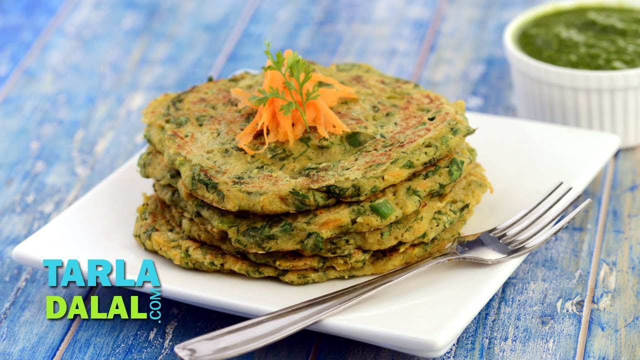 Vegetable oats pancake fibre rich breakfast by tarla dalal youtube forumfinder Gallery
