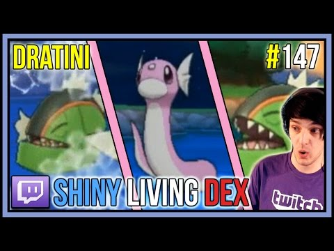 5% SHINY DRATINI LIVE REACTION FROM CHAIN FISHING! | Shiny Living Dex #147 | Pokemon X And Y
