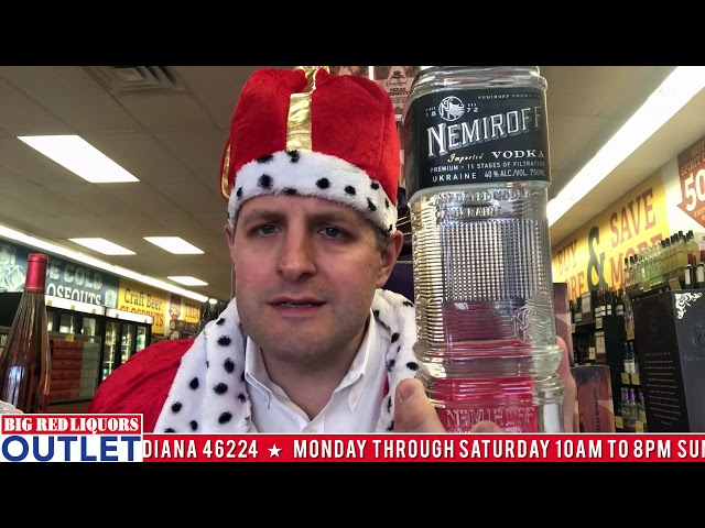 Nemiroff Vodka at the Big Red Liquors Outlet Store