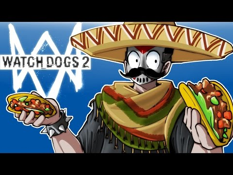 Thumbnail: Watch Dogs 2 - FUNNY MOMENTS, SELLING TACOS AND MISSIONS! (With Cartoonz!)
