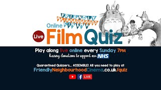 LIVE Online Film Quiz - Sunday 17th May - Friendly Neighbourhood Cinema (PREMIERES AT 8:15PM)