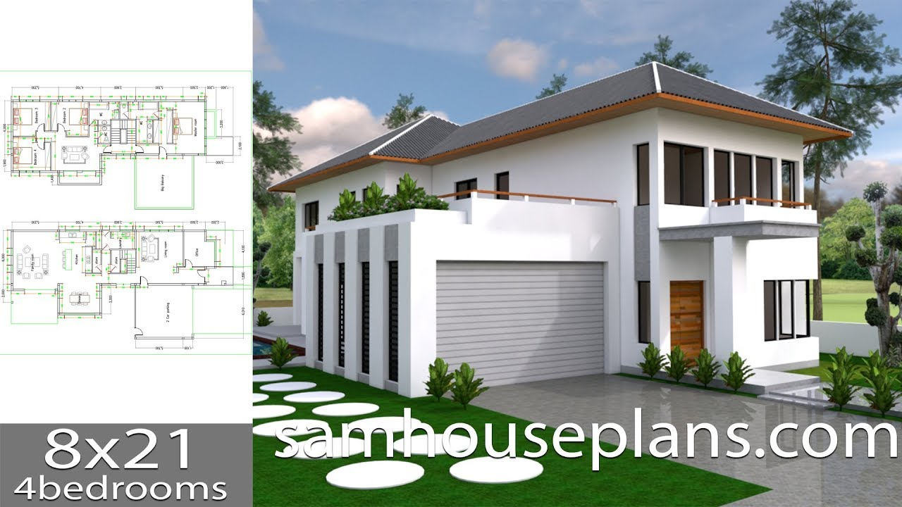 Sketchup Two Stories House 4bedroom Exterior Design From Autocad
