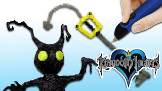 3D PEN - Making a KEYBLADE & HEARTLESS! - 3Doodler Create