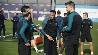 Fc barcelona - ready to go against manchester city