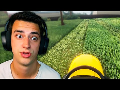 This Game Is WAY TOO SATISFYING. (Lawn Mowing Simulator) |
