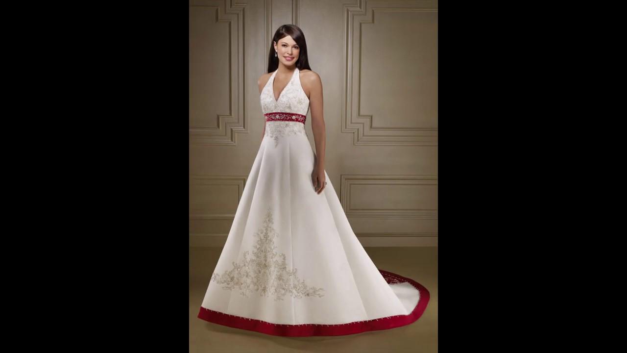 Vestidos de boda únicos sencillos y baratos - YouTube