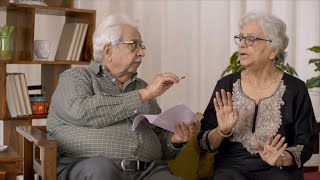 Senior Indian couple having a disagreement of thoughts on their financial statement