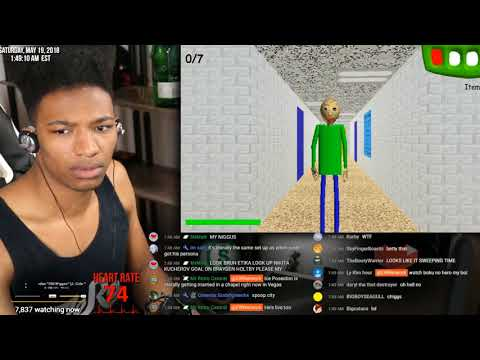 Etika Attempts To Play Baldi's Basics In Education (Fails To Play) [Etika Stream Highlight]