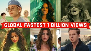 Global Fastest Songs to Reach 1 Billion Views on Youtube of All Time (fastest mv to reach 1 billion)