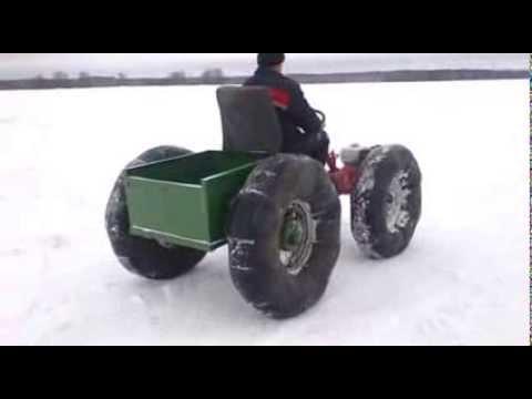 Снегоход из мотоблока видео смотреть