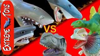 Shark Toys VS  Dinosaur Toys! Round 2 of Dino