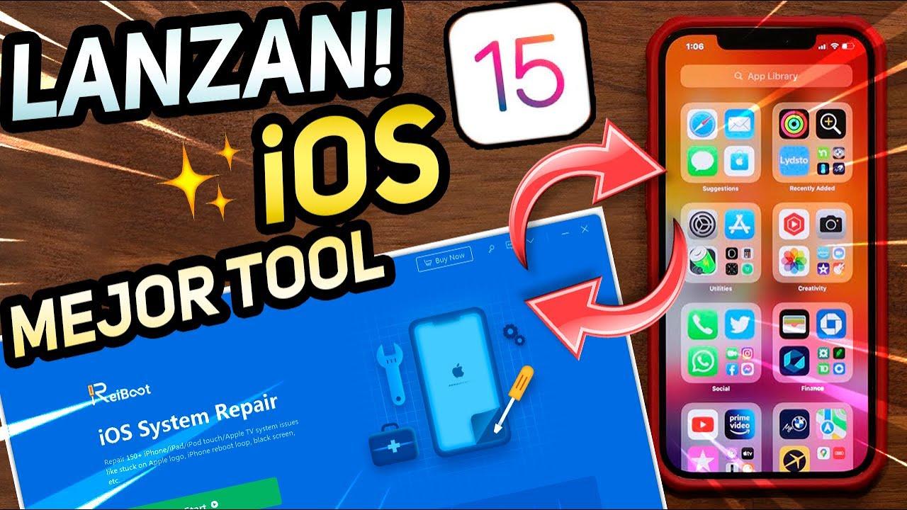 LANZAN⚡ Nuevo iOS 15 con MEJORAS! / RESTAURA y HAZ Downgrade sin iTUNES en iPHONE!