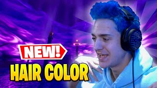 NINJA Reveals New *HAIR COLOR* & gęts FIRST WIN in Fortnite