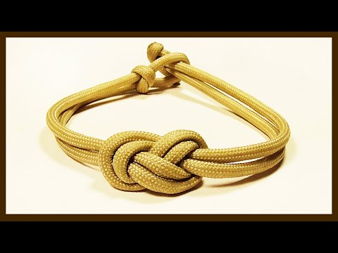 """How You Can Make An Elegant Infinity Knot Parachute Cord Bracelet"" WhyKnot"