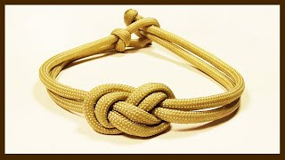 """""""How You Can Make An Elegant Infinity Knot Parachute Cord Bracelet"""" WhyKnot"""