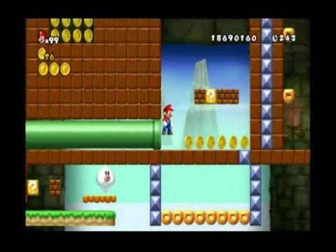 RHR: Newer Super Mario Bros  Wii ROM hack review of WiiMarioHacker's Map