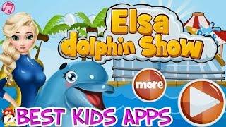 Elsa Dolphin Show Эльза Шоу дельфина игра-мультик для детей обзор на русском языке