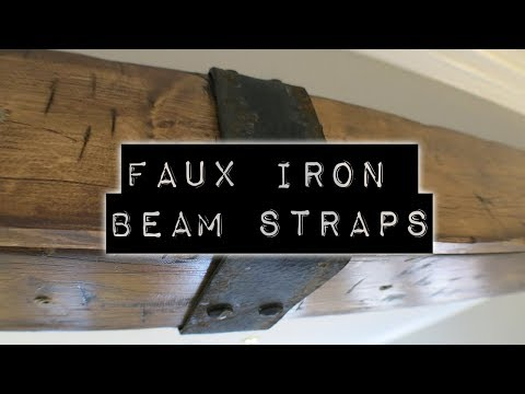 Faux Iron Beam Strap | DIY Home Improvement & Home Design