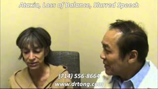theresa ataxia loss of balance slurred speech