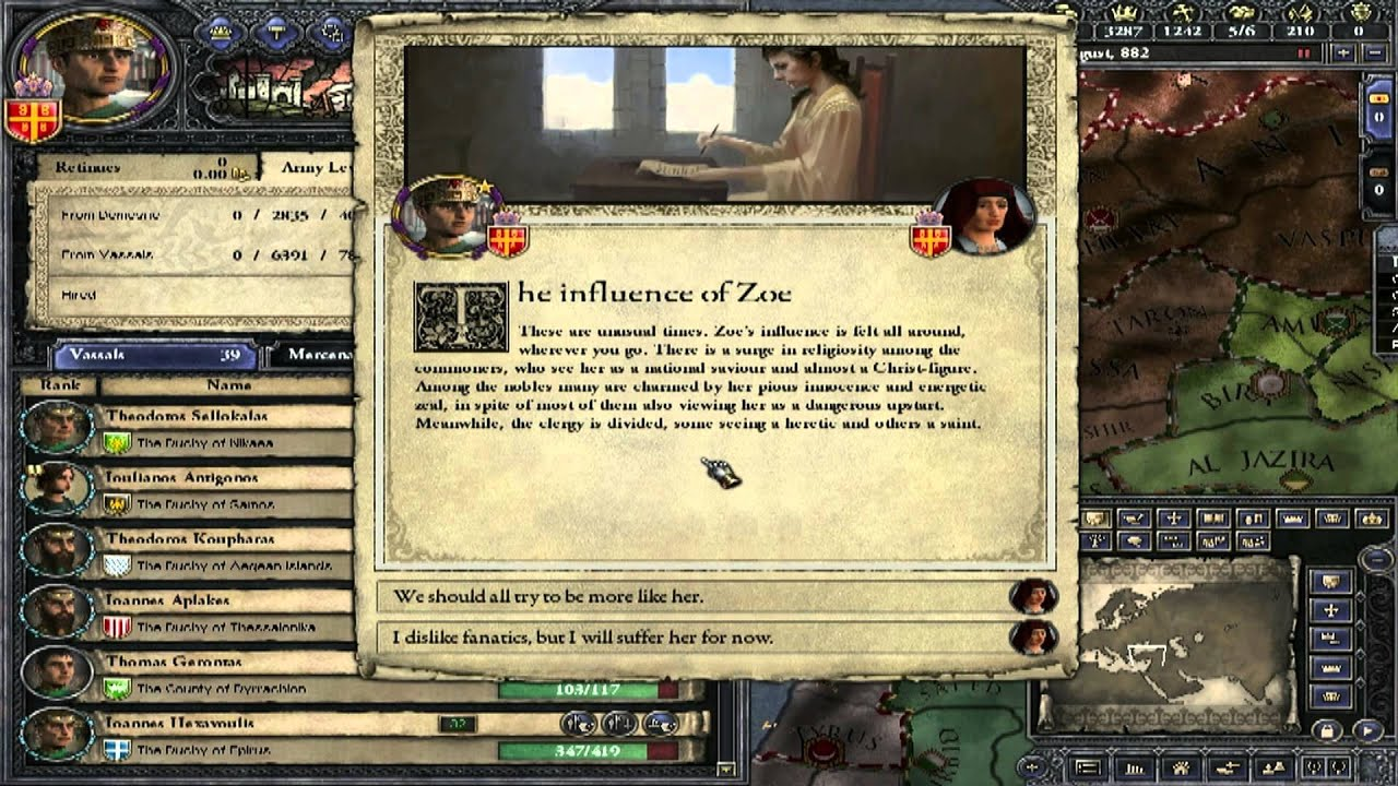 Let's Play Crusader Kings II (Byzantium) - Parts 6: The Maid of Ephesos