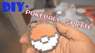 DIY pokemon pokeball sprite perler