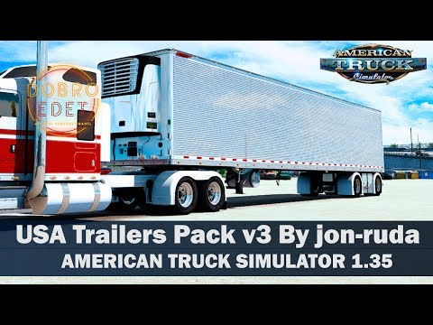 Обзор мода USA Trailer Pack V3.0 ATS 1.35