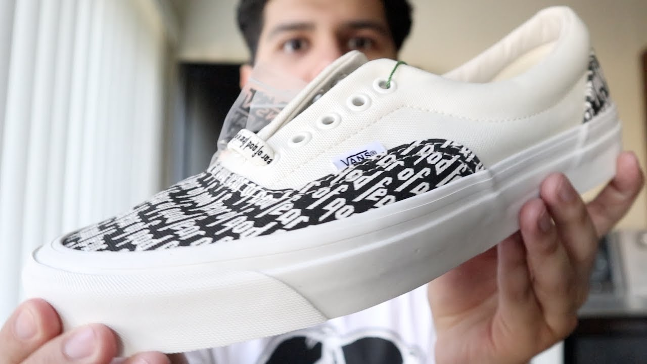fear of god x vans era
