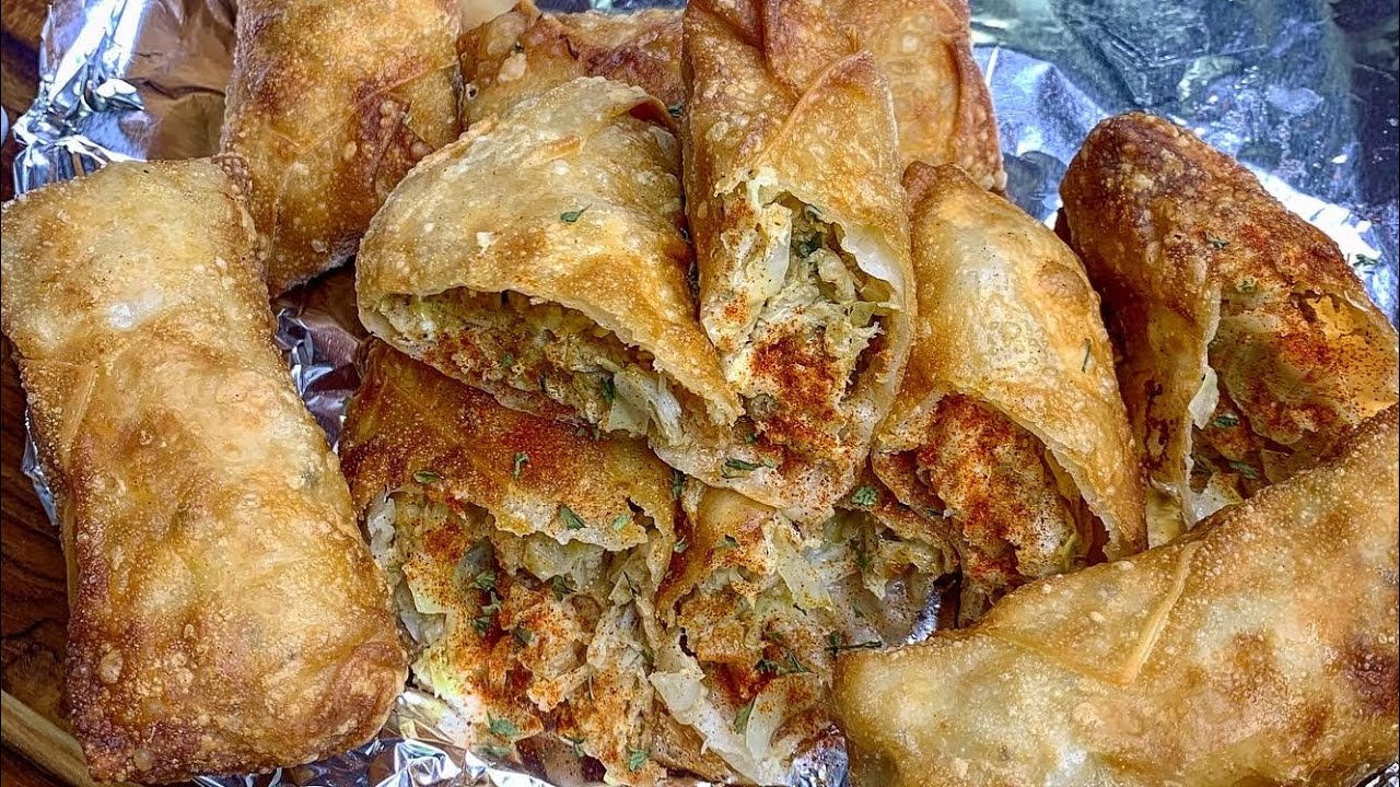How To Make Seafood Egg Rolls Recipe ...