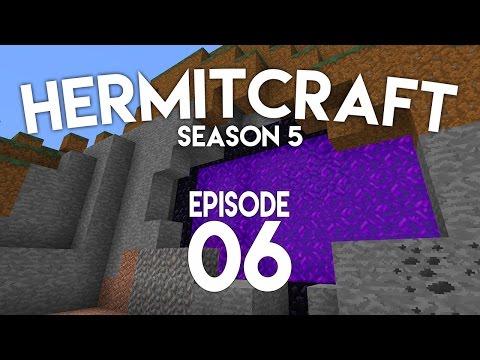 ►Hermitcraft 5: CUSTOM NETHER PORTAL!...
