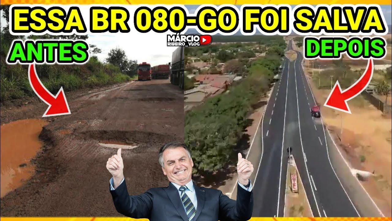 ?BOLSONARO MANDOU RECONSTRUIR 180 KM DA RODOVIA, BR-80 MUDOU A VIDA DOS GOIANOS 100% FINALIZADA