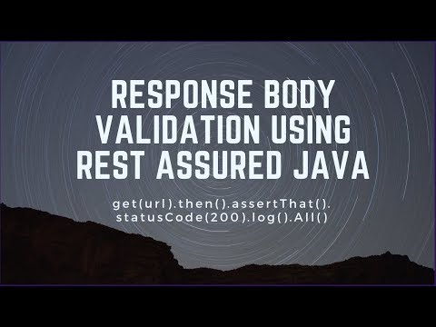 Validating json response format