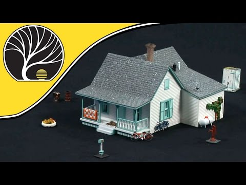 Country Cottage – HO Scale – Pre-Fab™ Building Kits | Woodland Scenics®