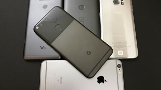 Google Pixel XL Detailed Unboxing/initial impressions+comparisons (V20/S7E/Nexus 6p/Iphone 6s Plus)