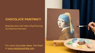 CHOCOLATE PAINTING?! EDIBLE ART! Reproduction: Girl with a pearl earring