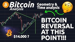 BITCOIN REVERSAL AT THIS EXACT POINT!!! BITCOIN PRICE PREDICTION USING GEOMETRY!!!