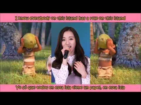Chaewon & Jinsol (APRIL) - How Far I'll Go (Alessia Cara) MOANA [Sub Español + Lyrics]