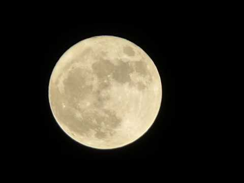 The Super Moon is on the rise over Tunisia and it's amazing!