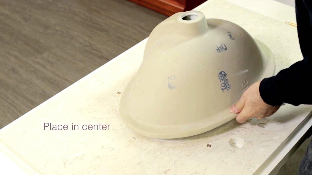 Undermount Sink Installation - YouTube for undermount bathroom sink installation  181pct