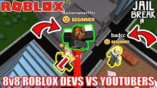 BATTLE AGAINST BADCC | 8v8 Roblox Devs vs Youtubers BATTLE